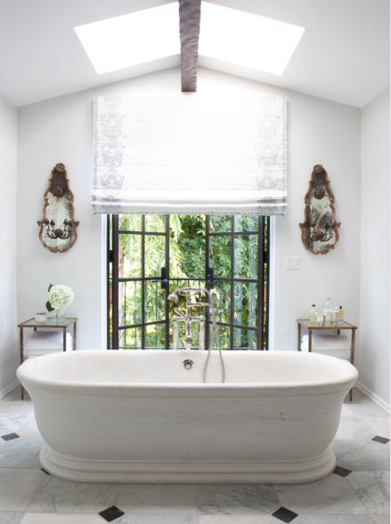 How to create an amazing room nate berkus associates for European steel enamel bathtub