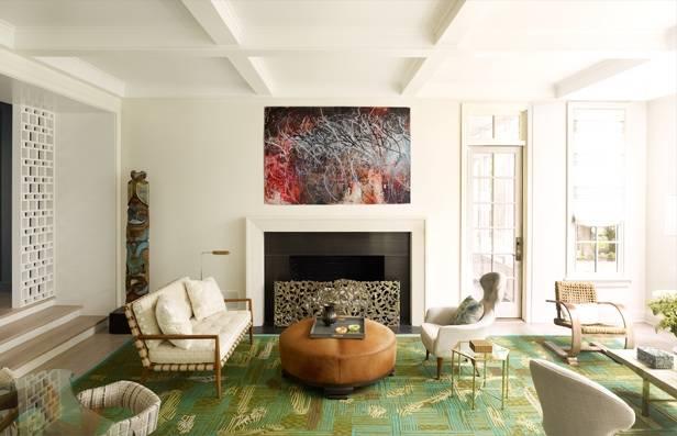 Anthony Iannaccis Book Design In The Hamptons Living Room