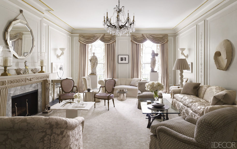 in the drawing room of a manhattan apartment designed by ann pyne of mcmillen inc