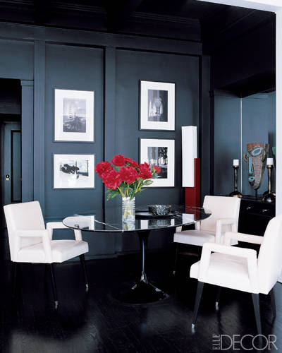 20 black room design ideas decorating with black for Elle decor best dining rooms