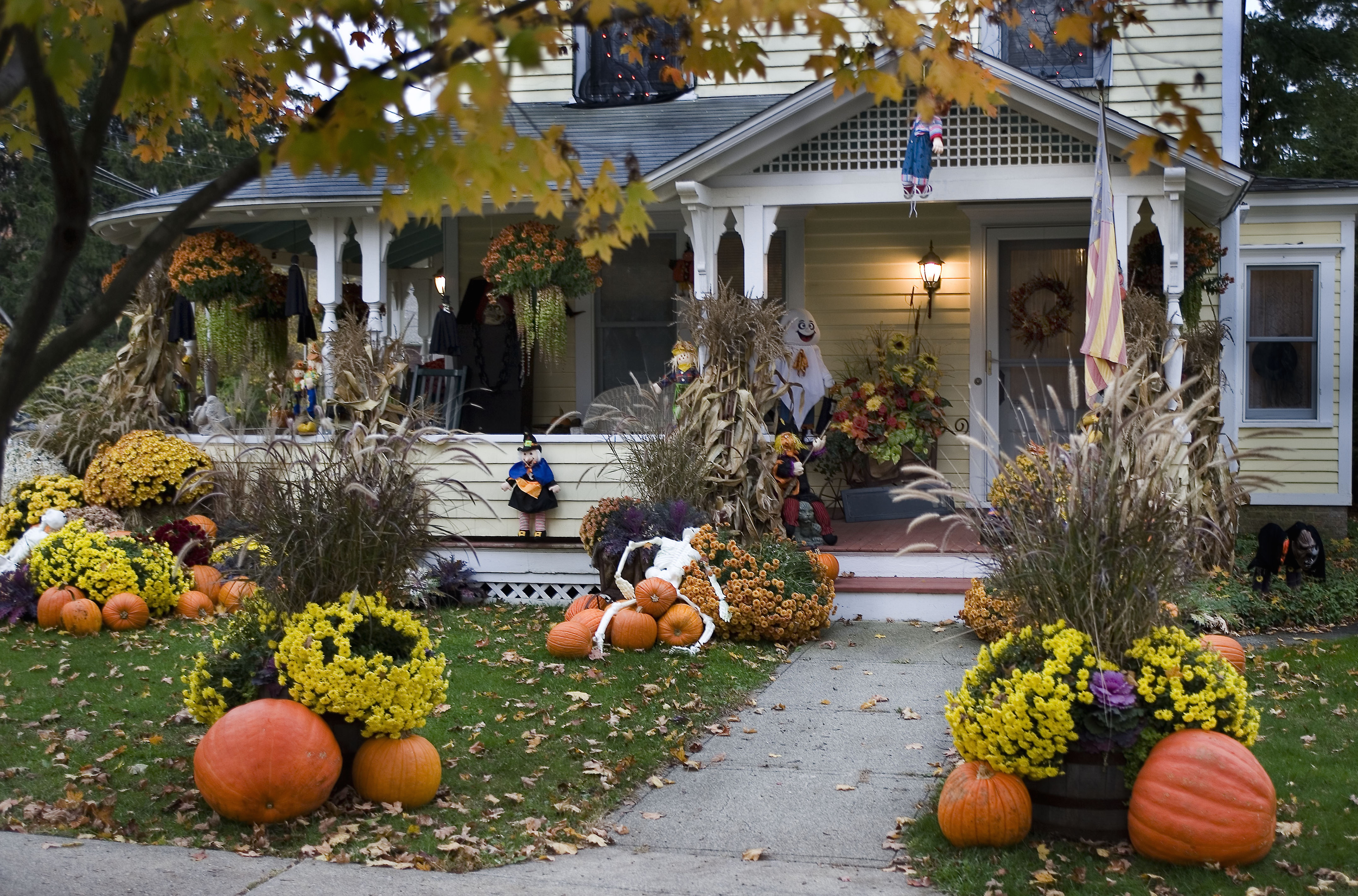 10 Best Outdoor Halloween Decorations - Porch Decor Ideas ... on Lawn Decorating Ideas id=41349